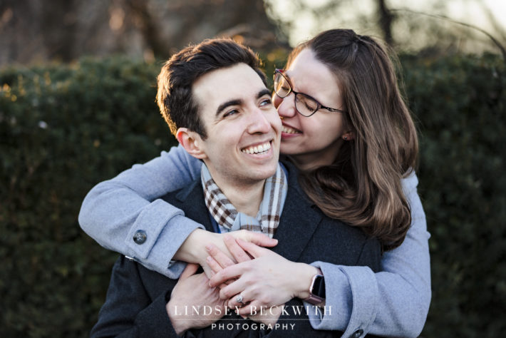 Wintry Engagement Session at Cleveland Museum of Art with Dmitriy and Serena
